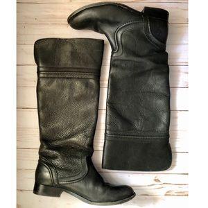 Frye riding boot 8.5 pull on black leather